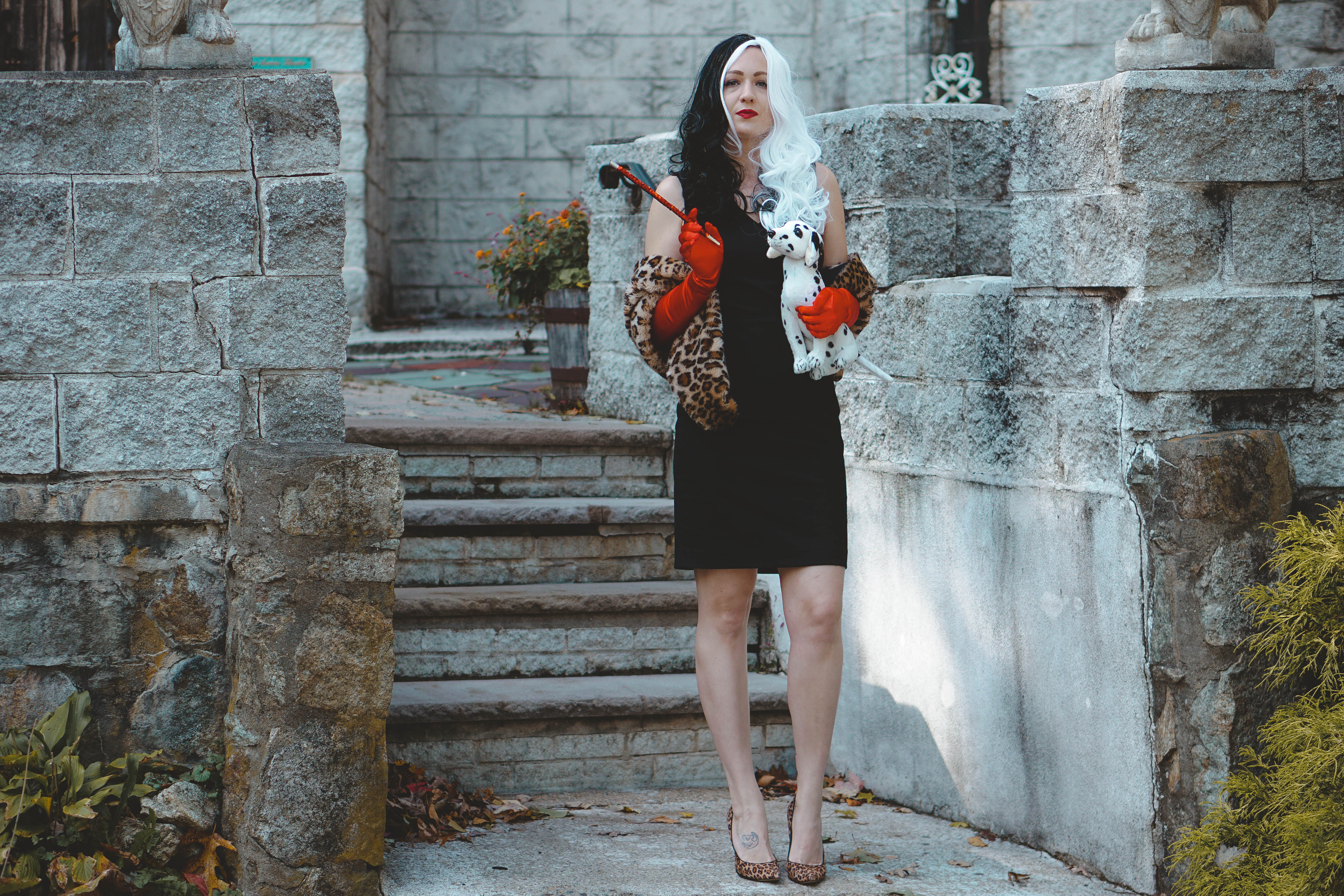 Cruela De Vil Halloween Costume and a Linkup HAPPY HALLOWEEN KIDS! - Jersey Girl, Texan Heart